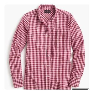 J Crew Club Collar Boy Shirt in Gingham